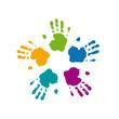 Logo imprint palms # Vector