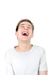 teenager laughing