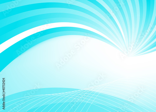 Abstract blue template