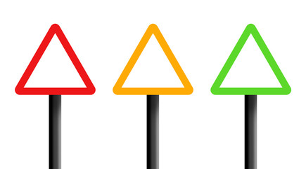 Triangle warning signs