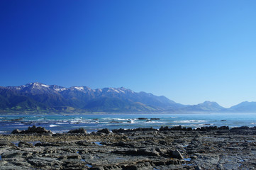 Nice Coast at Kaikoura, South Island of New Zealand