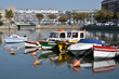 Little boats in the port of Le Havre in France