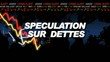 Speculation bourse dette finance écran courbe animation