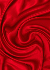 Red silk material as the basic background