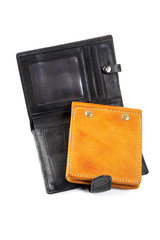 still-life purse and leather organizer  isolated