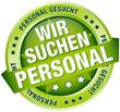 """Button Banner """"Wir suchen Personal"""" grün"""