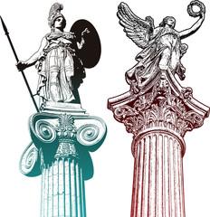 Mytologic statues