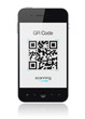 Mobile Smart Phone Showing QR Code Scanner