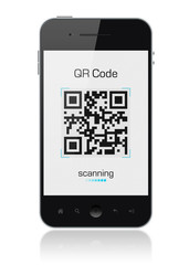 Mobile Smart Phone Showing QR Code Scanner