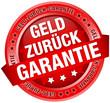 """Button Banner """"Geld zurück Garantie"""" rot"""