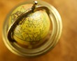 Close-up of a vintage globe.