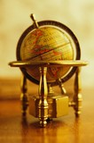 Vintage globe on a table.