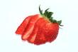 Erdbeere in Scheiben