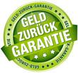 """Button Banner """"Geld zurück Garantie"""" grün"""