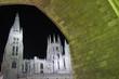 Vista nocturna de la Catedral de Burgos.