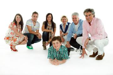 Glückliche Großfamilie