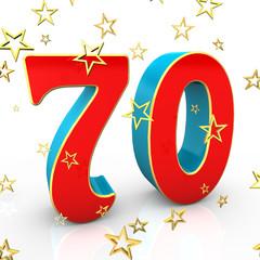 Seventy Years Old - Happy Birthday