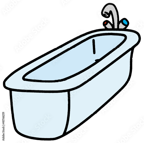 comment dessiner une baignoire