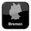 Glossy Button schwarz - Deutschlandkarte: Bundesland Bremen