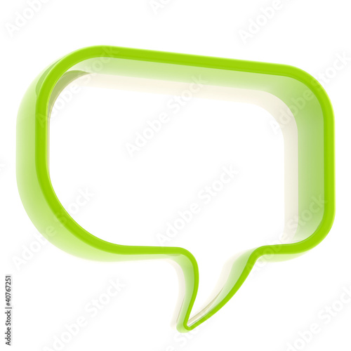 Copyspace text bubble isolated