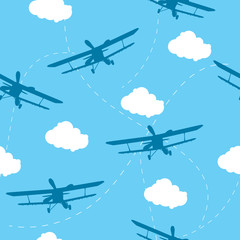 Seamless vector pattern of the plane