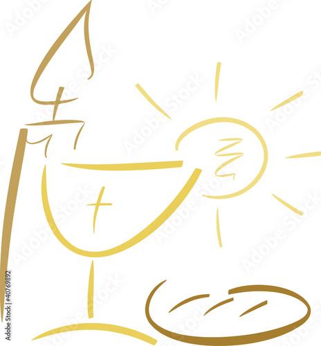 Abstrakte Symbole für christliche Feste