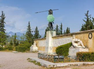 Leonidas monument, Thermopylae, Greece