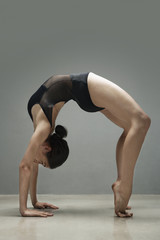Ballet dancer stretching