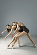 Ballet dancers posing on pointe