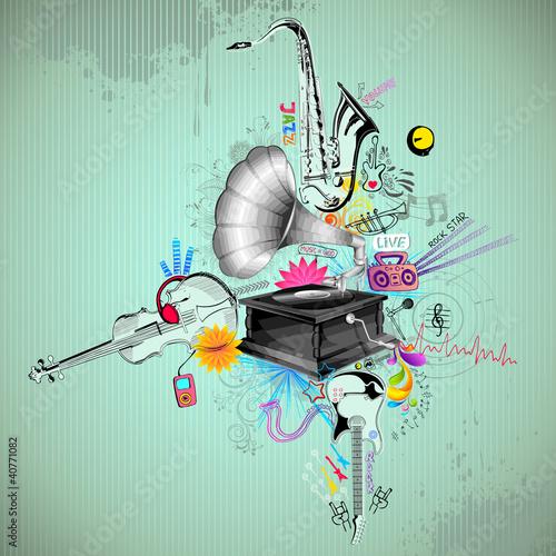 Retro muzyczne tło