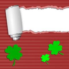 Karte - Grüne Kleeblätter - Glück