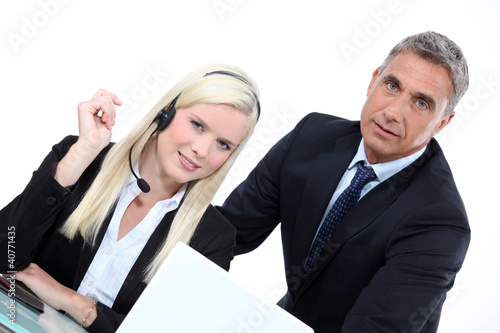 Telemarketer and sales manager