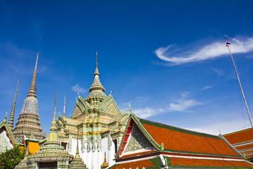 thai temple, WAT PHO Bangkok, THAILAND.