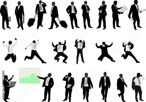business people collection - vector
