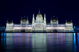 Budapest: Night View Hungarian Parliament