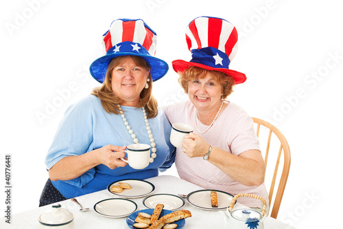 Stock Photo of Tea Party Conservatives