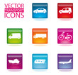 Color Transport Icons