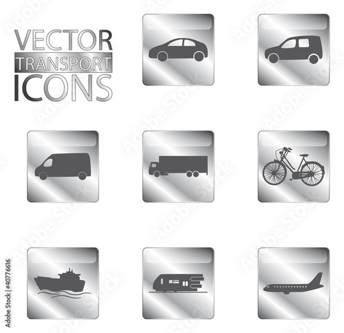 Metal Transport Icons