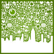 Go green city background