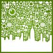 Go green city background