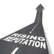 Rising Reputation - Road Arrow Up Improved Stature Opinion