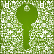 Green environment key background