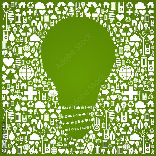 Eco green world ideas background
