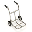 Metal Hand Truck on white background