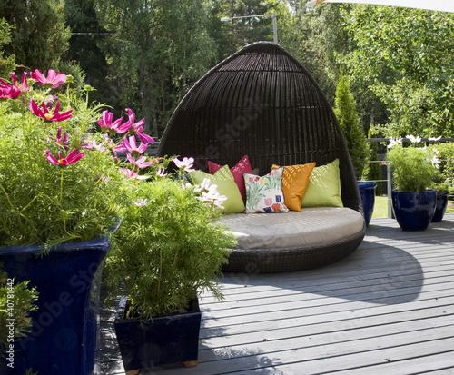 Leinwanddruck Bild design terrace