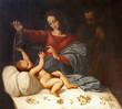 Rome - The Nativity - detail of paint from San Luigi church