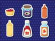 Stickers of foods