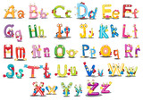 Fototapety Alphabet characters