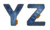 Jeans alphabet