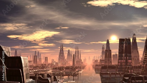 Fantastic (alien) city and UFO